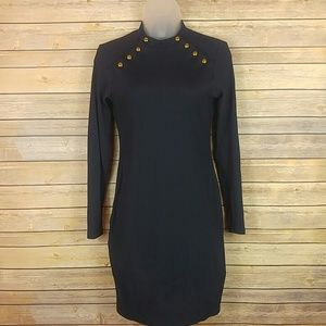Long sleeved navy dress by H&M